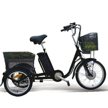 three wheel electric bicycle with cargo for shopping